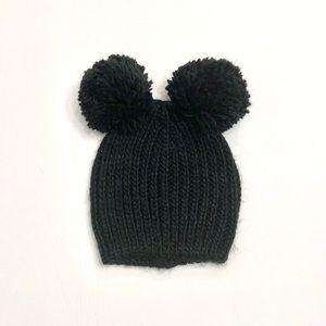 baby gap Mickey Mouse double pom pom beanie kids